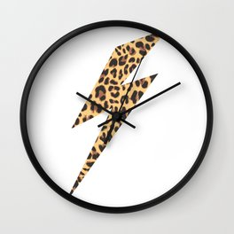 Wild Thing Leopard Lightning Bolt Wall Clock