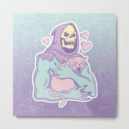 Skeletor's Cat Metal Print