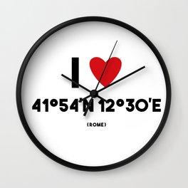 I LOVE ROME Wall Clock