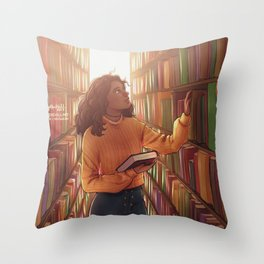 Books and cleverness Throw Pillow