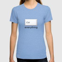 Control Ctrl everything T-shirt