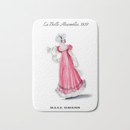 Fashion Plate 1819, Regency England Bath Mat