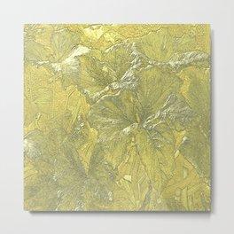 Vintage Nature Gold Metal Print