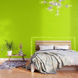 Bright green lime neon color Wallpaper