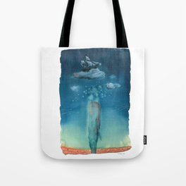 Moby Dick Dreams - Watercolor - Sperm Whale Tote Bag