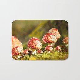 Beautiful but toxic - Fly agaric - Amanita - Autumn illustration - #society6 #buyart Bath Mat