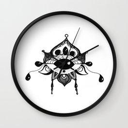 All Seeing Eye Bloom Wall Clock