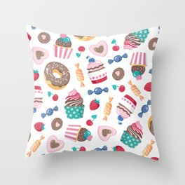 Sweet pattern Throw Pillow