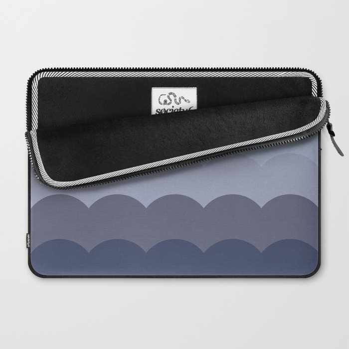 BROOKE TEAL - Mid Century Modern Abstract Graphic Design Laptop Sleeve