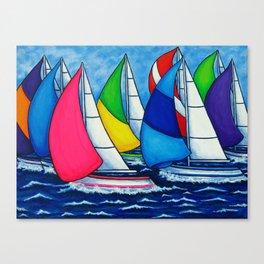 Colourful Regatta Canvas Print