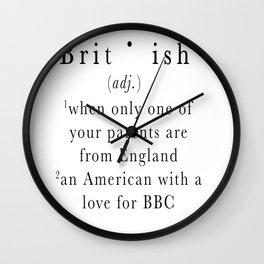 Brit(ish) Wall Clock
