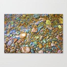 Baptism River Rocks Canvas Print