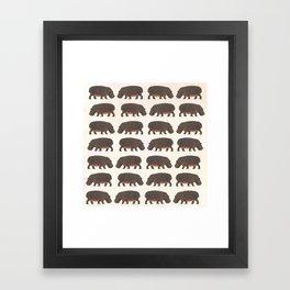 Hippo,hippo Framed Art Print