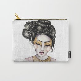 Golden Eyes // Fashion Illustration Carry-All Pouch