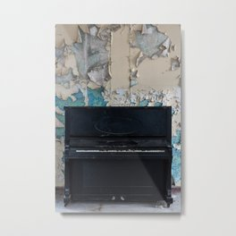 Old and abandoned piano Metal Print