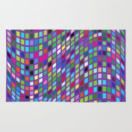 Lilac colorful Mosaic Rug