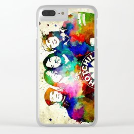 The Chili Peppers Grunge Clear iPhone Case