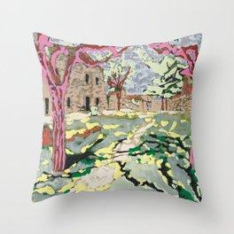 Garden at the Costa Brava Throw Pillow