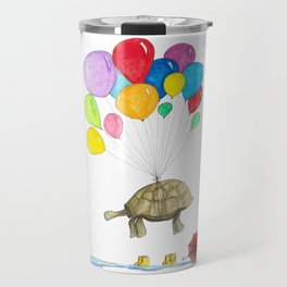 Mr Tortoise with Balloons Travel Mug