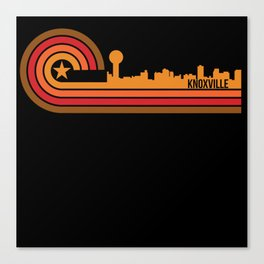 Retro Style Knoxville Tennessee Skyline Canvas Print