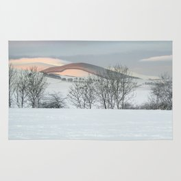 Snow Covered Hills Rug