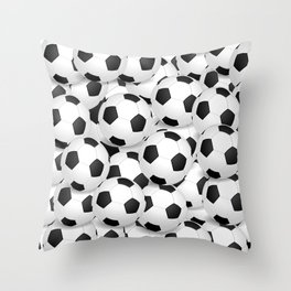 Soccer Ballls Throw Pillow