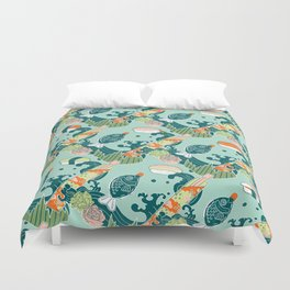 Sushi take-out! Duvet Cover
