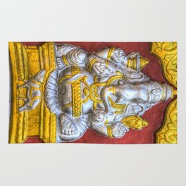 Indian Temple Elephant Rug