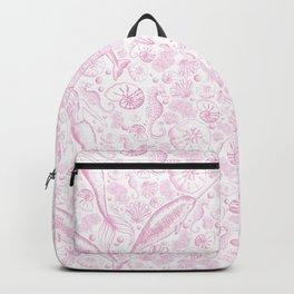 Mermaid Toile - Baby Pink Backpack