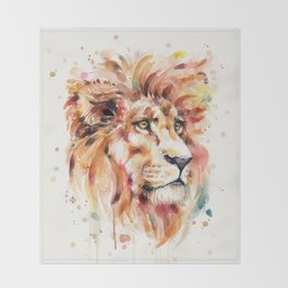 All Things Majestic (lion) Throw Blanket