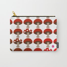 Mushroom in White Carry-All Pouch