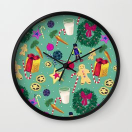 A Merry Christmas Wall Clock
