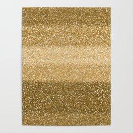 Glitter Glittery Copper Bronze Gold Poster
