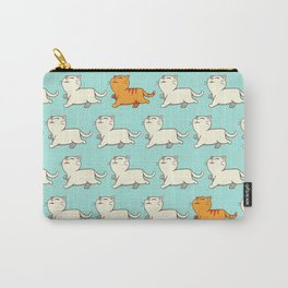 Proud cat pattern blue Carry-All Pouch