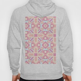 Pink teal yellow ethnic moroccan motif pattern Hoody
