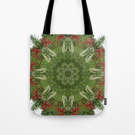 Cardinal flower and Culver's root kaleidoscope Tote Bag