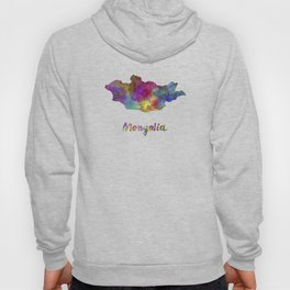 Mongolia in watercolor Hoody