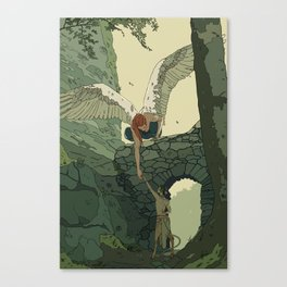 The Angel and Fawn Canvas Print