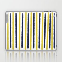 Gold & Navy Blue Stripes Laptop & iPad Skin