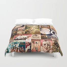 Circus Collage Duvet Cover