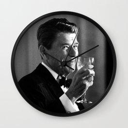 President Reagan Making A Toast Wall Clock