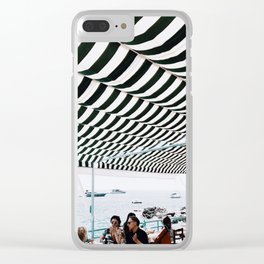 Bold Stripes, Capri Clear iPhone Case