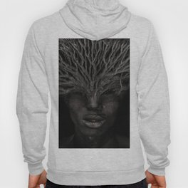 Tree man. Double exposure portrait by T.Amrein Hoody