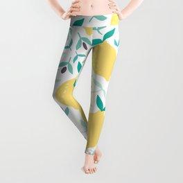 Lemon & Blueberry Pastel Leggings