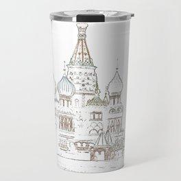 Saint Basil's Cathedral (on white) Travel Mug