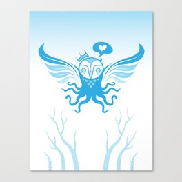 unlike any owl blue Canvas Print