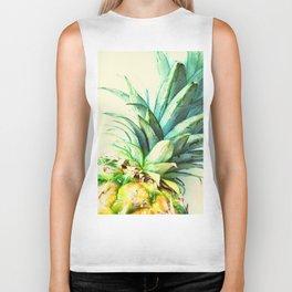 Green Pineapple Biker Tank