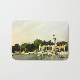 The Lake at Buen Retiro Park Bath Mat