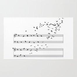 Natural Musical Notes Rug