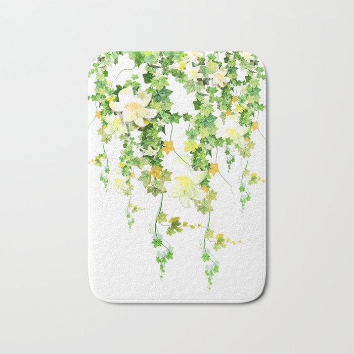 Watercolor Ivy Bath Mat
